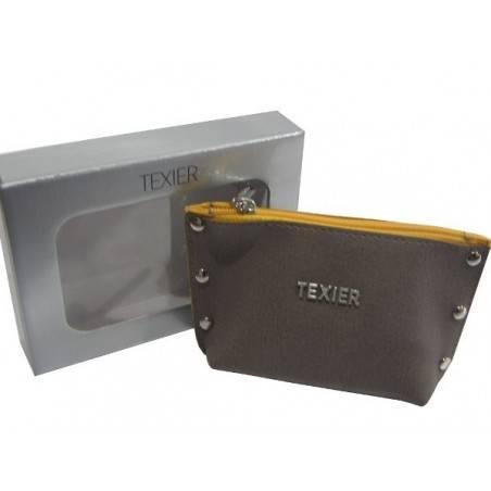 Porte monnaie Texier Studbags cuir Fabrication France 26180 TEXIER - 2