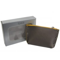 Porte monnaie de marque Texier Studbags en cuir Fabrication Française 26180 TEXIER - 3