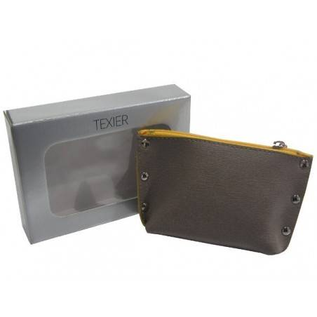 Porte monnaie Texier Studbags cuir Fabrication France 26180 TEXIER - 3