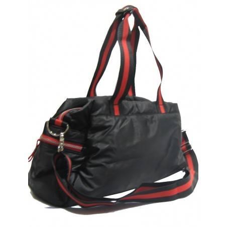 Sac à main bowling de marque Serge Blanco rugby textile noir et rouge SERGE BLANCO - 2