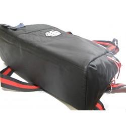 Sac à main bowling de marque Serge Blanco rugby textile noir et rouge SERGE BLANCO - 3