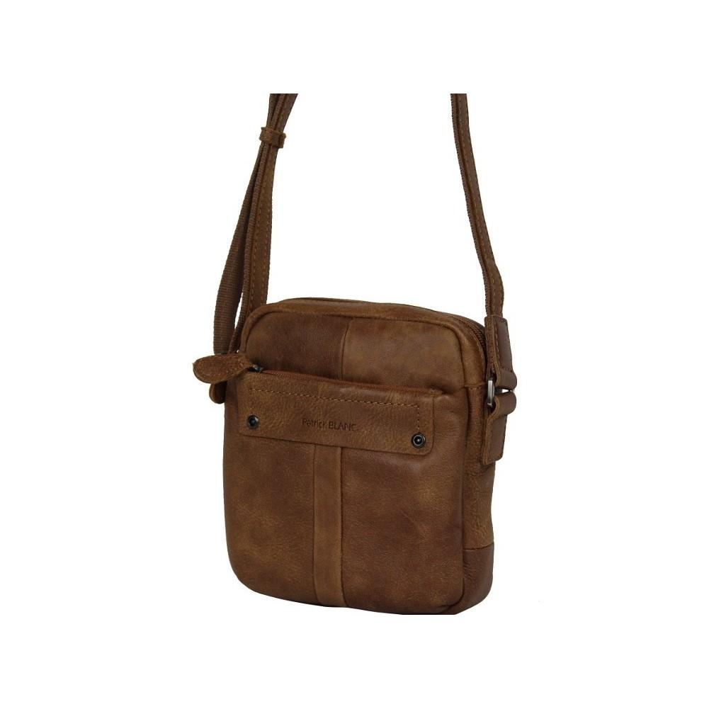 Pochette marron cuir Patrick Blanc 422005 PATRICK BLANC - 1
