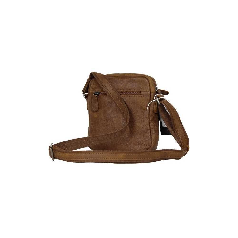 Pochette marron cuir Patrick Blanc 422005 PATRICK BLANC - 2