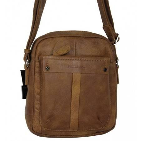 Pochette marron cuir Patrick Blanc 422006 PATRICK BLANC - 1