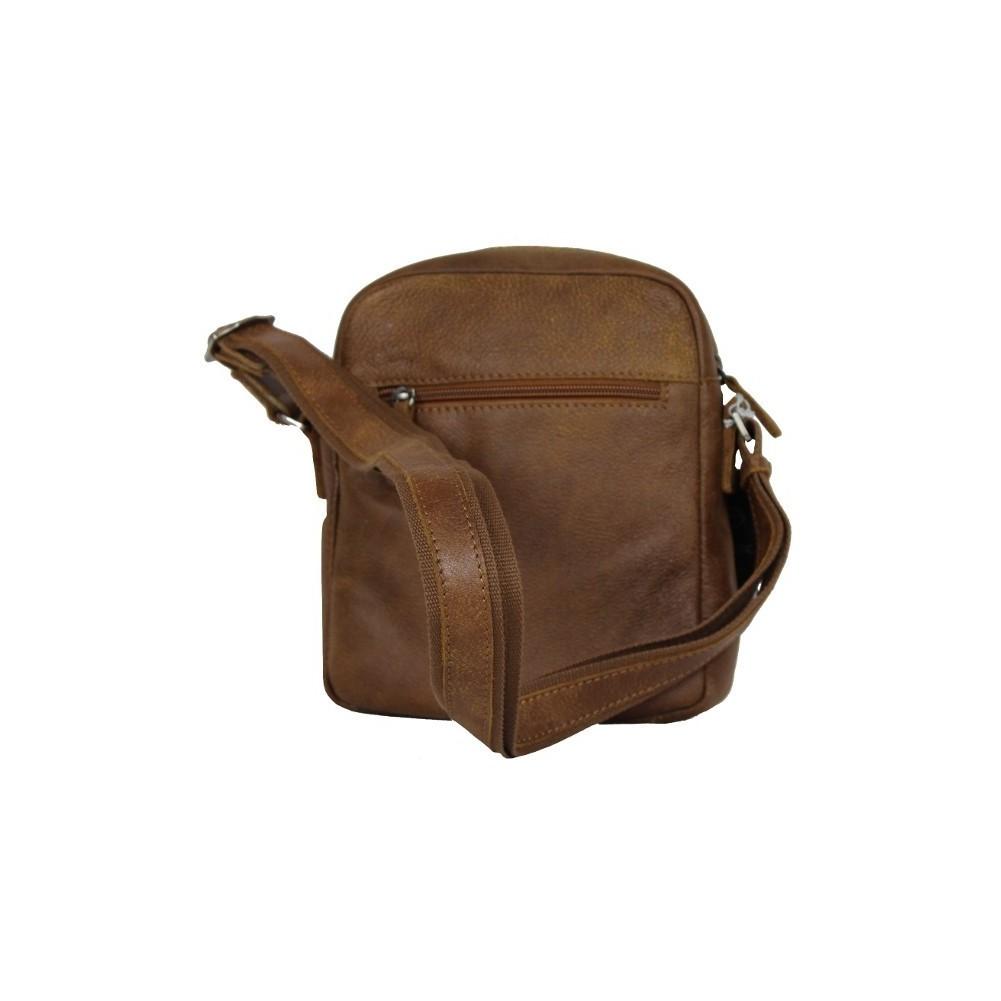 Pochette cuir effet vieilli Patrick Blanc 422006 marron PATRICK BLANC - 2