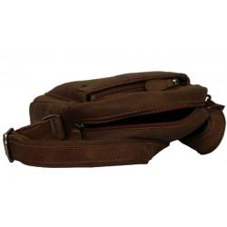 Pochette marron cuir Patrick Blanc 422006 PATRICK BLANC - 3
