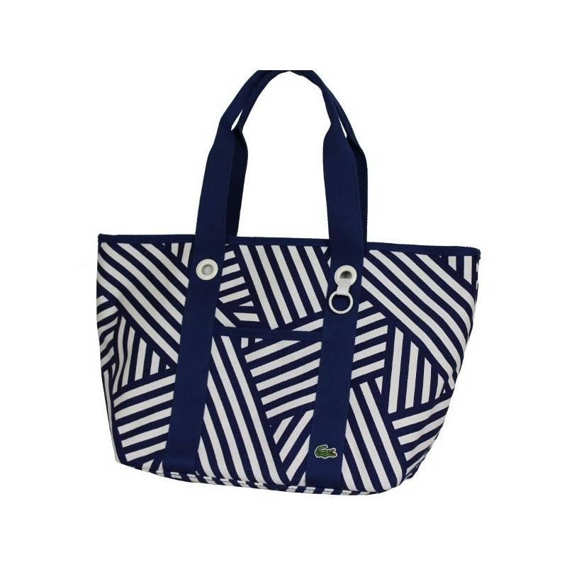Sac porté épaule shopping cabas Lacoste bleu marine N87(0)51002 LACOSTE - 1