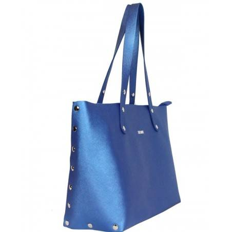 Sac cabas Texier fabrication France Studbags 26109 bleu TEXIER - 3