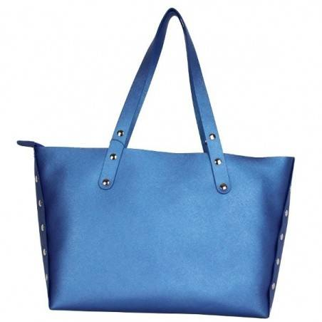 Sac cabas Texier fabrication France Studbags 26109 bleu TEXIER - 2