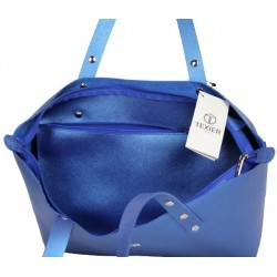 Sac cabas Texier fabrication France Studbags 26109 bleu TEXIER - 4