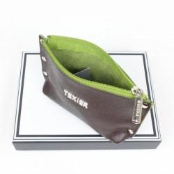Porte monnaie de marque Texier Studbags en cuir Fabrication Française 26180 TEXIER - 16