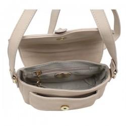 Sac à main épaule bandoulière chaine Fuchsia cognac marron gold f9372-1 FUCHSIA - 4
