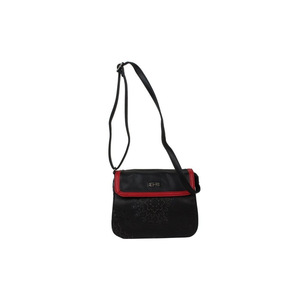 Sac bandoulière Smash Cupola Bag motif ajouré noir SMASH - 1