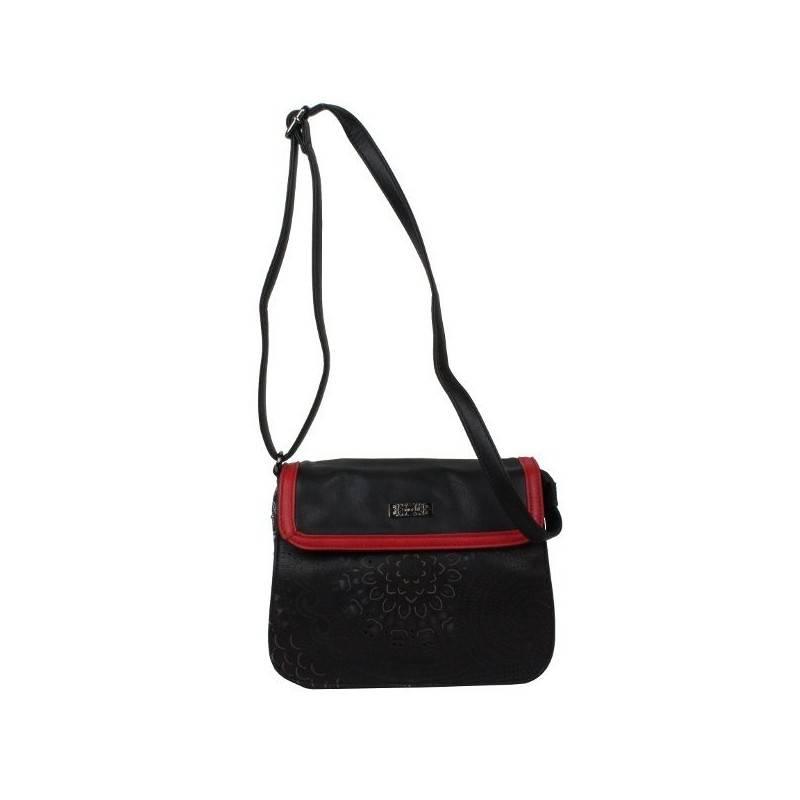 Sac bandoulière noir et rouge SMASH CUPOLA BAG SMASH - 1