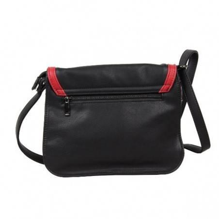 Sac bandoulière noir et rouge SMASH CUPOLA BAG SMASH - 3