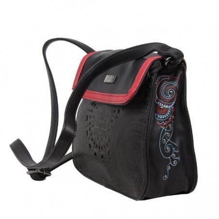 Sac bandoulière noir et rouge SMASH CUPOLA BAG SMASH - 4