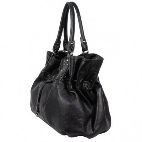 Sac cabat de marque Lancaster noir textile 515-30 ARTHUR & ASTON - 3