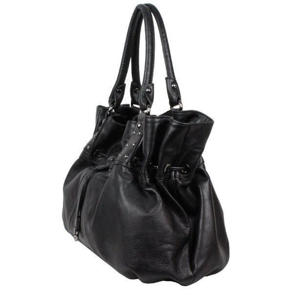 sac main rond bourse cuir noir arthur et aston 1069 08. Black Bedroom Furniture Sets. Home Design Ideas