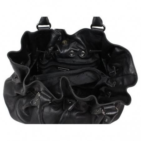 Sac cabat de marque Lancaster noir textile 515-30 ARTHUR & ASTON - 2