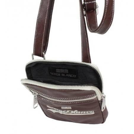 Pochette forme poire à porter devant noir ou gris de marque Serge blanco ost11006 SERGE BLANCO - 4