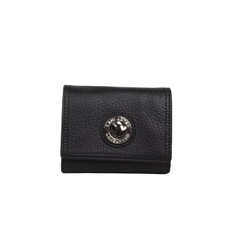 Nouveau porte monnaie billet femme de marque Lancaster noir en cuir 1732 LANCASTER - 1