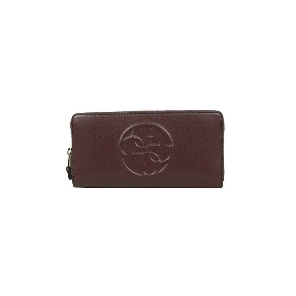 Grand porte monnaie et porte cartes Guess lisse SWAMY1-L5246 GUESS - 1