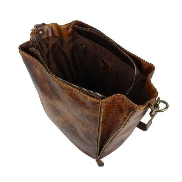 sac cabas seau vintage cuir viellie bruno rossi s 34. Black Bedroom Furniture Sets. Home Design Ideas