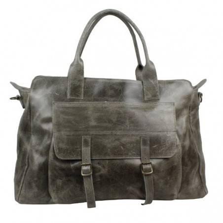 Grand sac de voyage cuir vieillie vintage Bruno Rossi S7/G Bruno Rossi - 5