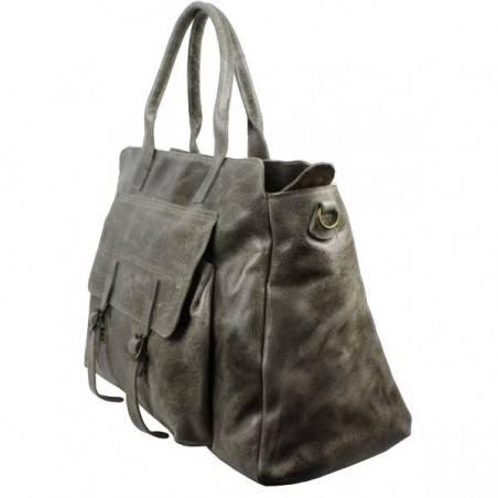Grand sac de voyage cuir vieillie vintage Bruno Rossi S7/G Bruno Rossi - 4