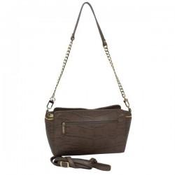 Petit sac bandoulière ou épaule en cuir façon croco Arthur & Aston 1453-08 ARTHUR & ASTON - 2