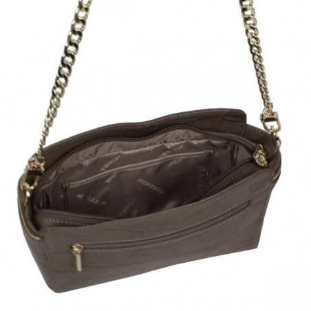 Petit sac bandoulière ou épaule en cuir façon croco Arthur & Aston 1453-08 ARTHUR & ASTON - 3