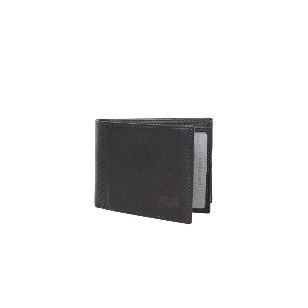 Petit portefeuille monnaie cartes en cuir David William avec bloquage signaux RFID D5347 DAVID WILLIAM - 1