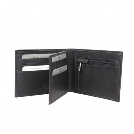 Petit portefeuille monnaie cartes en cuir David William avec bloquage signaux RFID D5347 DAVID WILLIAM - 3