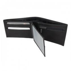 Petit portefeuille monnaie cartes en cuir David William avec bloquage signaux RFID D5347 DAVID WILLIAM - 4