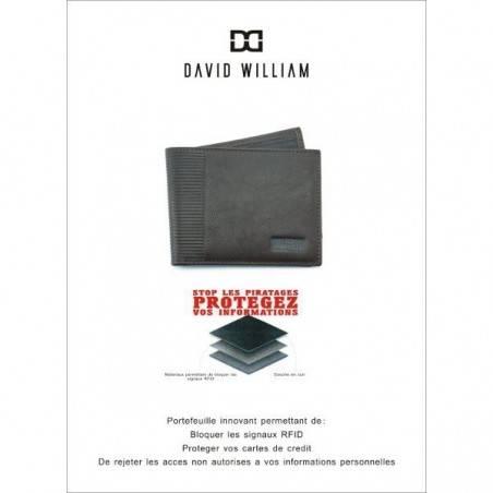 Petit portefeuille monnaie billets cartes en cuir David William D5344 DAVID WILLIAM - 2