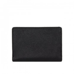 Porte monnaie femme cuir saffiano bi colore Fuchsia F9572-1 FUCHSIA - 5