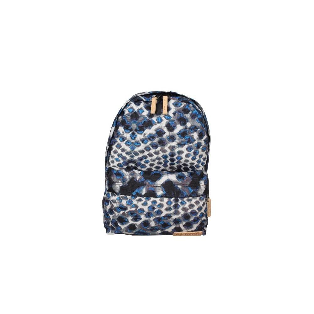 Petit sac à dos Eastpak EK12A 43K Blue toile cuir motif EASTPAK - 1