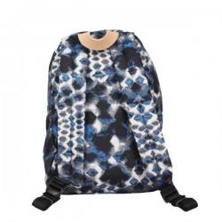 Petit sac à dos Eastpak EK12A Frick 43K Blue Diamonds toile et cuir imprimé EASTPAK - 3