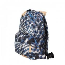 Petit sac à dos Eastpak EK12A 43K Blue toile cuir motif EASTPAK - 2