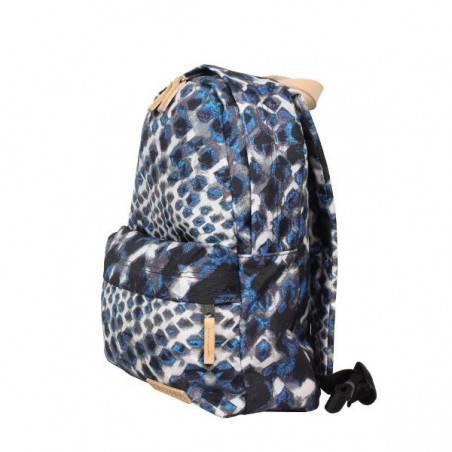 Petit sac à dos Eastpak EK12A Frick 43K Blue Diamonds toile et cuir imprimé EASTPAK - 2