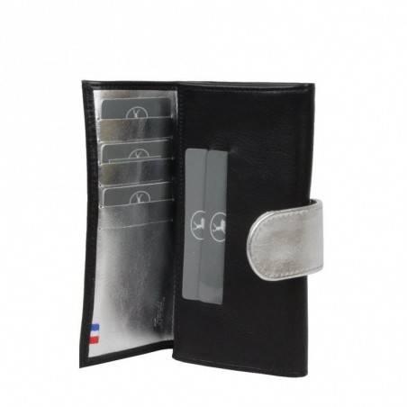 Porte monnaie et cartes femme fabrication Française cuir 365.76 Nouvelty  FRANDI - 4
