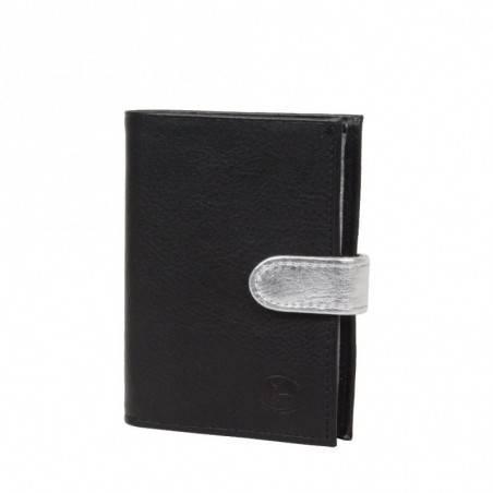 Porte monnaie et cartes femme fabrication en cuir et Française 364.58 Nouvelty  FRANDI - 1