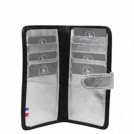 Porte cartes femme fabrication en cuir et Française 364.70 Nouvelty  FRANDI - 2