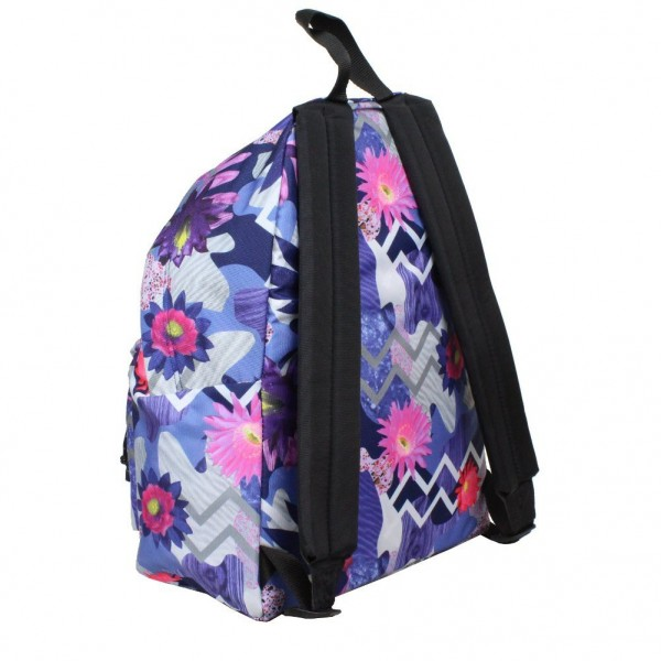 sac dos eastpak imprim fleurs ek620 padded pak 39 r 17l purple world ebay. Black Bedroom Furniture Sets. Home Design Ideas