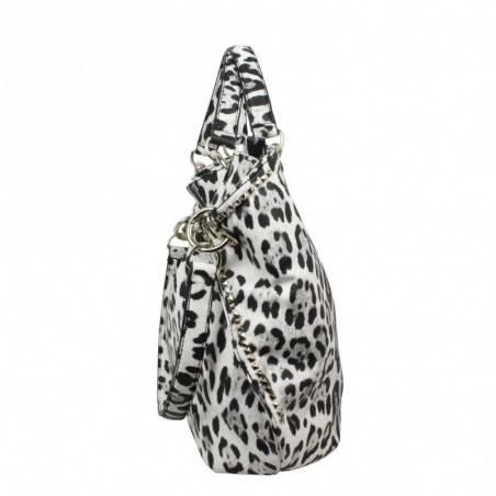 Sac forme demi lune Guess Dylan Snow motif Leopard GUESS - 4