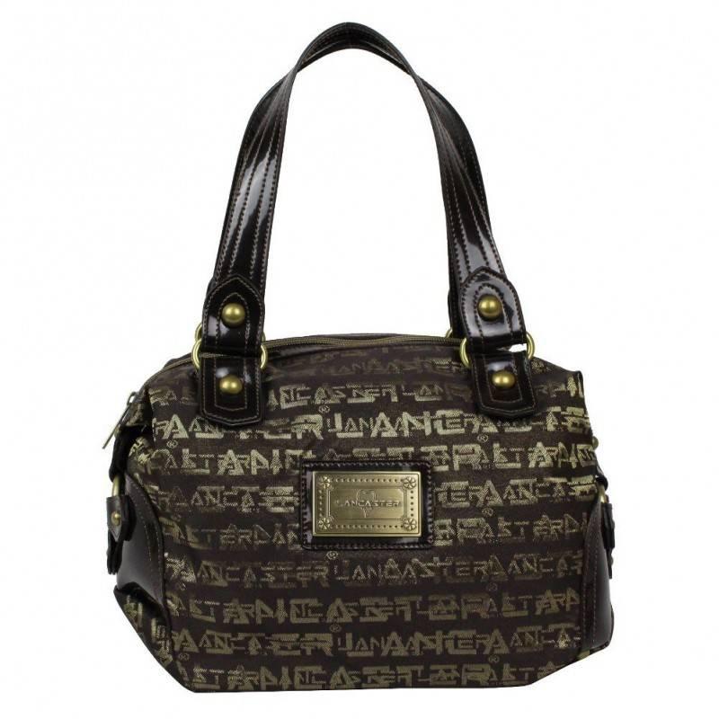Sac épaule femme bowling marron écriture dorée Lancaster 508-194 LANCASTER - 1