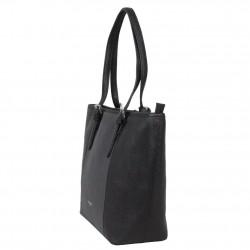 Sac à main femme réalisé en cuir de vachette noir un toucher incontournable de marque Fuchsia  FUCHSIA - 3