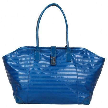 Sac bandoulière de marque Texier bleu striplight fabriquer en France 25602 TEXIER - 1