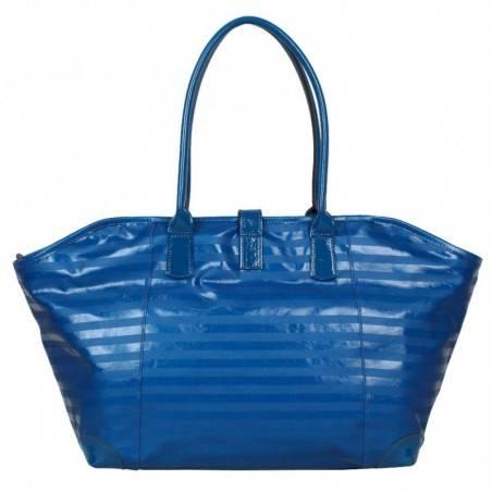 Sac bandoulière de marque Texier bleu striplight fabriquer en France 25602 TEXIER - 4