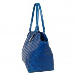 Sac bandoulière de marque Texier bleu striplight fabriquer en France 25602 TEXIER - 2